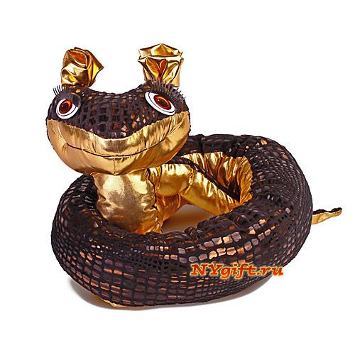 """Игрушка символ 2013 года  """"Змейка очарование """" вид сзади."""