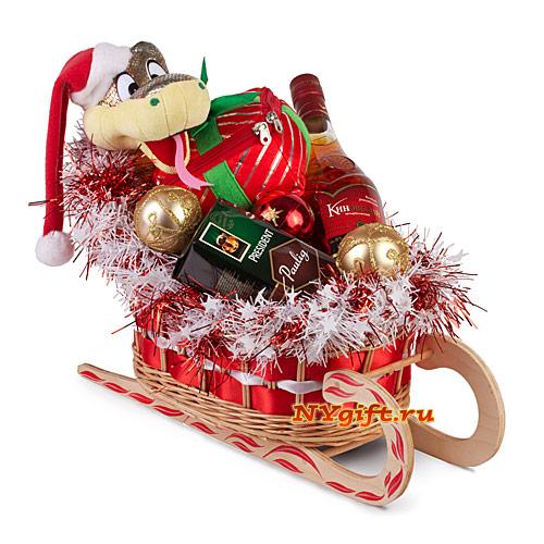 Новогодние сладкие подарки сани 8128